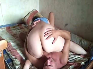 russian older couple at home 1