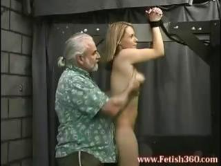blond d like to fuck is tied up and gets her