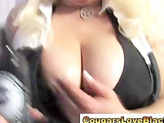 nasty large tits interracial cougar