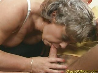 insane old mom acquires cock drilled and office
