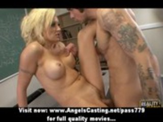 breasty golden-haired d like to fuck screwed hard