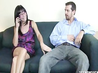 A horny mom sucks a cock