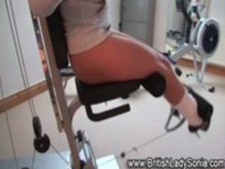 watch aged lady sonia exercise