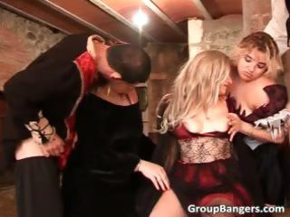 group sex act with three milfs who