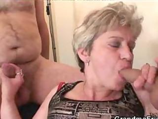 granny threesome act older older porn granny old