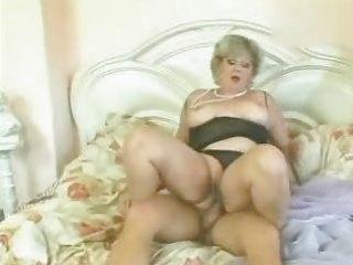 blond granny drilled