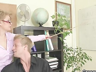 office wench enjoys riding his meat