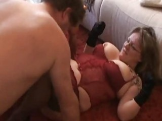 corpulent and breasty amateur wife sucks and bonks