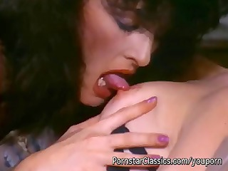 80s vintage lesbian action with two horny chicks