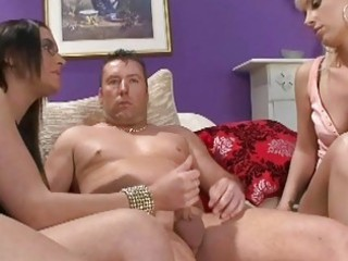 stylish milf bitches playing with diminutive dick