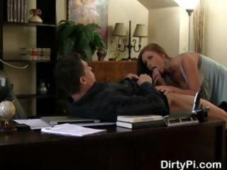 Boss caught cheating on his wife getting blowjob