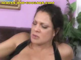 Mature gal with big tits gets her face blasted by