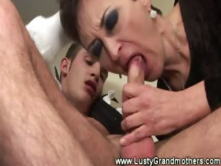 mature granny sucks cock then screwed and cant