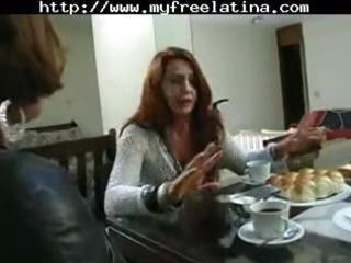 mature brazilian redheaded mama receives hammered