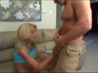 hawt breasty blonde mamma with fake large tits