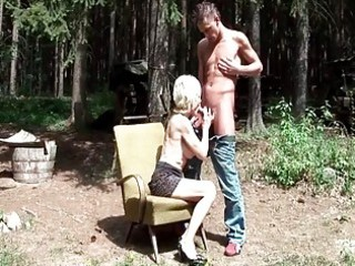 106yo granny getting drilled by young dude outdoor