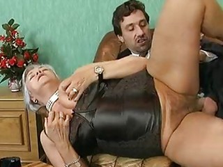 aged german hotties drilled