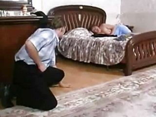 Busty russian house wife seduced