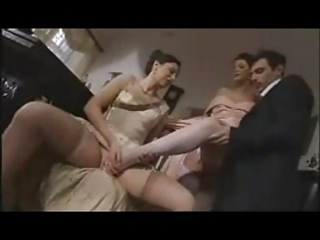 two french older in stockings sm611