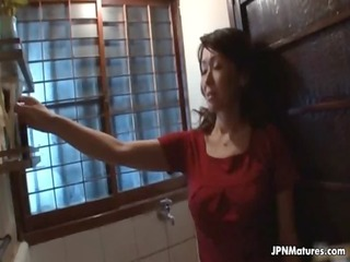 Big tits Japanese mom loves playing
