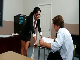 horny teacher ava adams gives her lucky student a