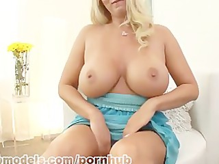 Sexy Cougar Karen Fisher gets warm jizz on her