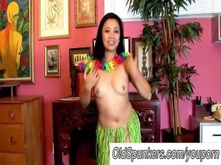 sexy milfs hawaiian hula dance and squirting