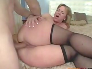 Big ass mommy loves anal sex