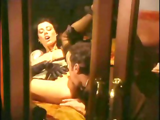 anita dark is a dark-haired broad who receives