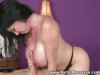 large titted masseuse engulfing on shlong for her