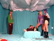 astounding group sex party with milf&#1150_s