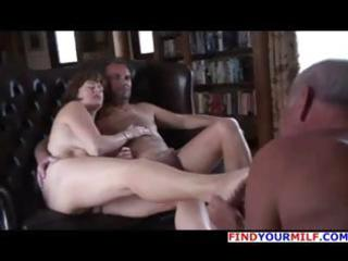 old stud is getting cuckolded and licks the feet