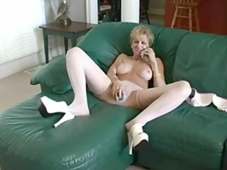 horny mother copulates vibrator and man