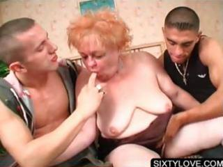 aged chick engulfing big knobs