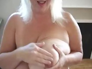 mature play with her big boobs