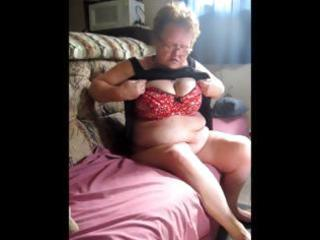 old bulky granny receives stripped and uses a