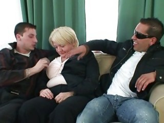 dudes group sex totally drunk granny