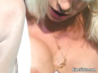beautiful mature blond receives pierced part9