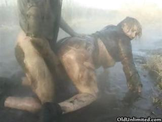 messy old mommy overspread with mud gets part7