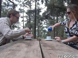 lactating non-professional mother i outdoor