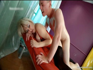 nasty golden-haired hoe acquires spanked