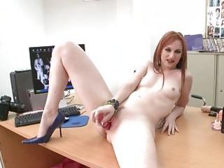 Sexy redhead milf chick roughly fucked at the