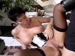 admirable shorthaired granny getting annaly pumped