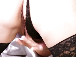 older blond solo foreplay