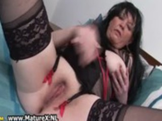 sixty years old mom finger fucking