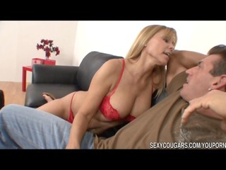 hot cougar nailed by big dick stud
