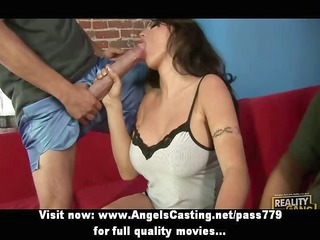 hawt dark brown assistant does oral-sex and