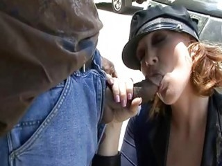 older police hotties engulfing dark shlong on