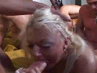 old granny receives drilled in ass and sucks