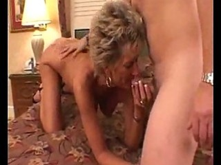 Hot busty mature cougar oral pleasures